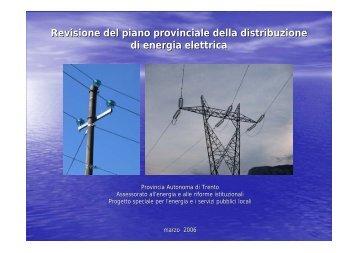 Provincia di Trento: Revisione Piano Provinciale Distribuzione