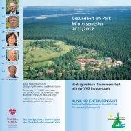 Gesundheit im Park Wintersemester 2011/2012 - Klinik ...