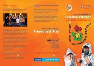 Flyer für Jugendliche - Friedensstifter Baden