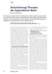 Anticholinerge Therapie - Vereinigung Zuercher Internisten