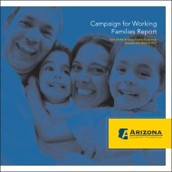 Campaign for Working Families Report - Arizona Community ...
