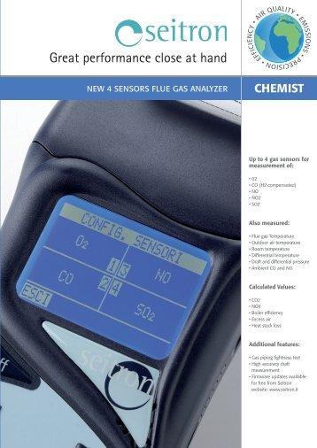 Combustion analyzers CHEMIST Depliant_CHEMIST_ENG ... - Seitron