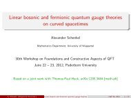 Linear bosonic and fermionic quantum gauge theories on curved ...