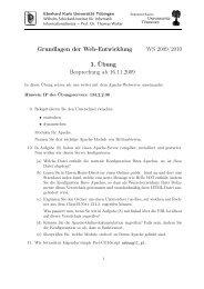 3. Übung - Ceres.uni-tuebingen.de - Universität Tübingen