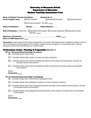 Lesson Observation Checklist  Evaluation Form  General