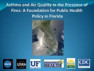 Asthma and Air Quality in the Presence of Fires: A ... - NASA