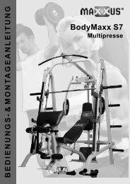 BodyMaxx S7 Montage- & Bedienungsanleitung - MAXXUS