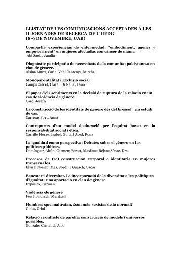 Comunicacions SJR - Institut Interuniversitari d'Estudis de Dones i ...