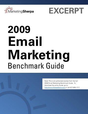 EXCERPT Benchmark Guide - MarketingSherpa