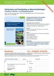 Fischschutz und Fischabstieg an Wasserkraftanlagen Handbuch ...