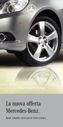 La nuova offerta Mercedes-Benz.