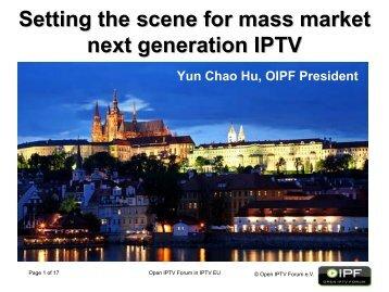 Open IPTV Forum in IPTV EU 2009
