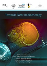 Towards Safer Radiotherapy - The Royal College of Radiologists