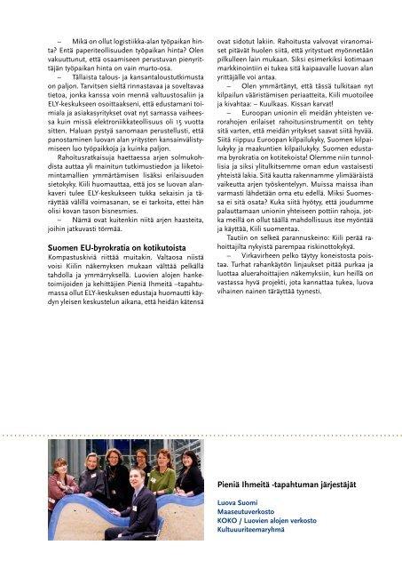 Puhdas osaamattomuus kampittaa luovaa alaa! - Maaseutupolitiikka