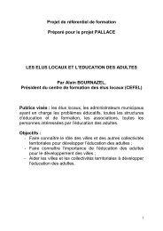 Projet de référentiel de formation Préparé pour le projet ... - EUROlocal