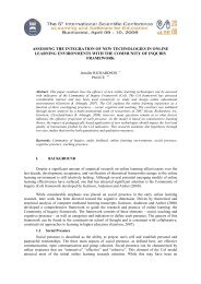 assessing the integration of new technologies in online learning ...