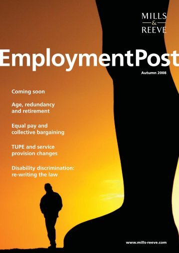 Employment Post Autumn 2008 - Mills & Reeve