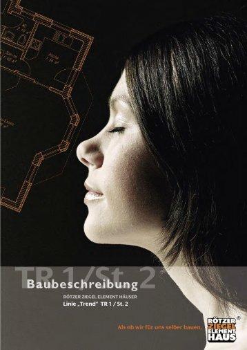 """""""Trend"""" TR 1 / St. 2 Als ob wir für uns selber bauen. - Schmid Hausbau"""