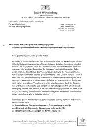 Zur Veröffentlichung auf dem Beteiligungsportal Antwort zum Dialog ...
