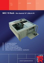 """MCC 19 Rack - the classical 19"""" slide-in PC - TR Electronic"""
