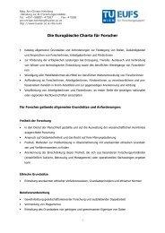 Die Europäische Charta für Forscher