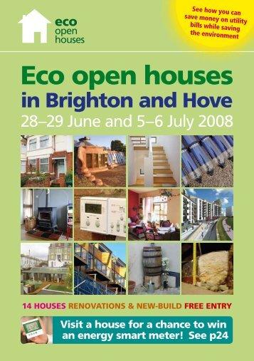2008 brochure - Eco Open Houses