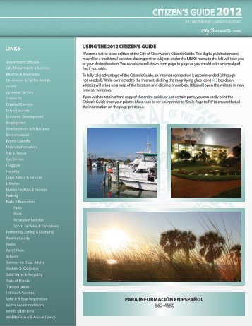 MyClearwater.com - City of Clearwater