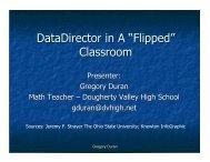 "DataDirector in A ""Flipped"" Classroom - Riverside Publishing"
