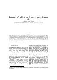 Problems of building and designing on semi-rocky soils - Kivi Niria