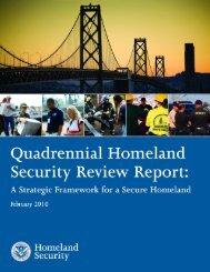 Quadrennial Homeland Security Report 2010