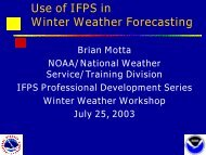 Use of IFPS in Winter Weather Forecasting - Warning Decision ...
