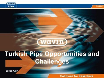 Turkish Pipe Opportunities and challenges - VinylPlus