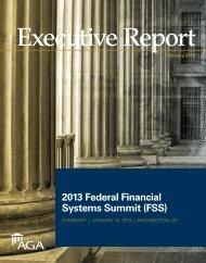 2013 Federal Financial Systems Summit (FSS) - AGA