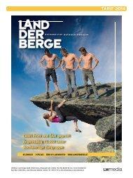 Mediadaten LAND DER BERGE 2014 - LWmedia