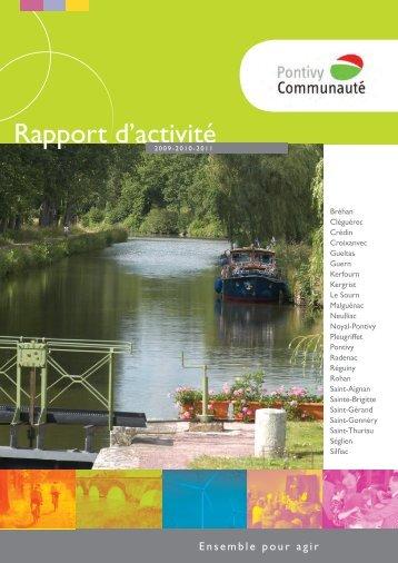 Rapport d'activités 2009-2010-2011 - Pontivy communauté