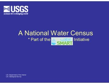 A National Water Census - Western Governors' Association