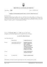 Delibera n. 2264/2003 - La nuova ferrovia del Brennero - Provincia ...