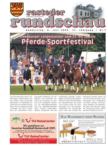 rasteder rundschau, Ausgabe Juli 2009