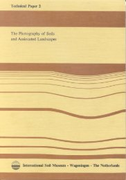 The photography of soils and associated landscapes - ISRIC World ...