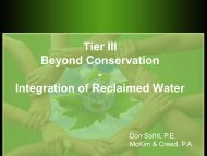 Tier III Beyond Conservation - Integration of ... - NC Project Green