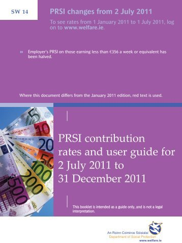PRSI contribution rates and user guide for 2 July 2011 to ... - Welfare.ie
