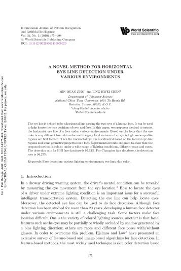 a novel method for horizontal eye line detection under various ...