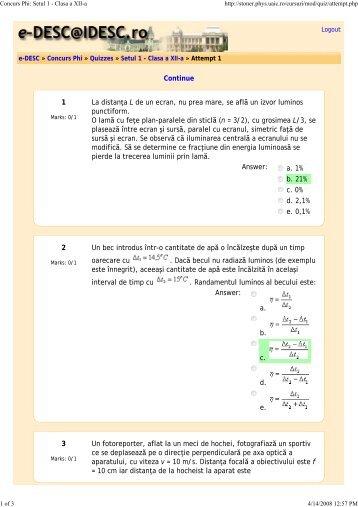 Concurs Phi: Setul 1 - Clasa a XII-a