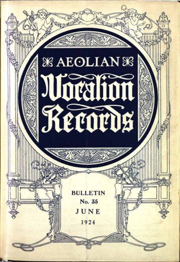 Aeolian-Vocalion Records, June 1924 - British Library - Sounds