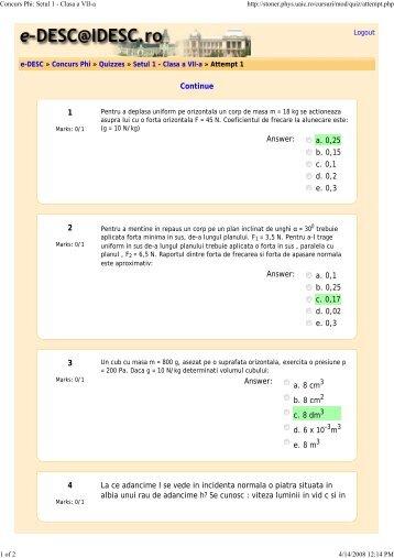 Concurs Phi: Setul 1 - Clasa a VII-a
