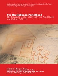The Revolution in Parenthood - Institute for American Values
