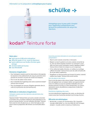 kodan® Teinture forte - Schülke & Mayr