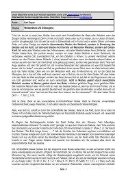 Autor: Karl Geyer Thema: Weltweisheit und Gottesgeist ... - Kahal.De