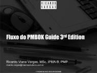 Fluxo do PMBOK Guide 3rd Edition - Ricardo Vargas