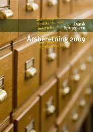 Årsberetning 2009 - Dansk Sprognævn
